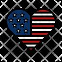 America American Memorial Day Icon