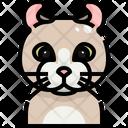 American Curl Cat Cat Face Icon