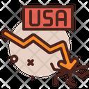 American Dollar Loss Icon