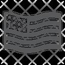 American Usa Flag Icon