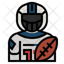 Americanfootballplayer Avatar Athletes Icon