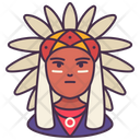 American Indian History Man Icon