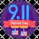 American Patriot Day American Memorial Day Patriot Day Label Icon
