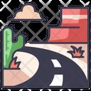 America Usa Road Icon