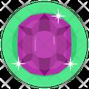 Gemstone Amethyst Emerald Icon
