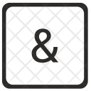 Ampersand Amp Element Icon