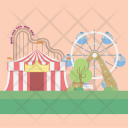Amusement Background Circus Icon