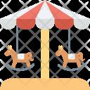 Amusement Ride Carousel Icon