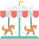 Amusement Park Carousel Icon