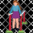 Amusement Park Girl In Park Park Entrance Icon