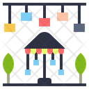 Amusement Park Location Garden Icon