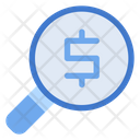 Magnifying Glass Currency Analysis Icon