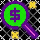 Magnify Banking Economy Icon