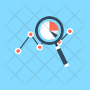 Analysis Graph Magnifying Icon