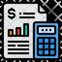 Calculator Analysis Grap Icon