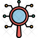 Analysis Analytical Services Magnifier Icon