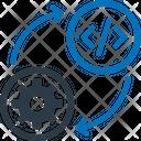 Analysis Cogwheel Data Analytics Icon