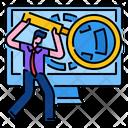 Analysis Seo Marketing Icon