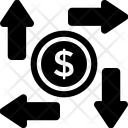 Analysis Arrows Dollar Icon
