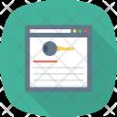 Analysis Keywords Marketing Icon
