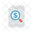 Analysis Invoice Tax Icon