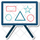 Analysis Analytics Blackboard Icon