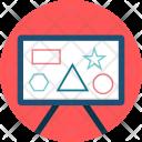 Analysis Analytics Blackboard Icon
