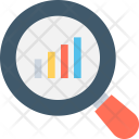 Analysis Search Graph Icon