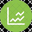 Analysis Line Graph Icon