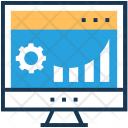 Graph Cog Monitor Icon