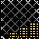 Analysis Graph Coin Icon