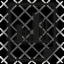 Bar Chart Graph Document Icon