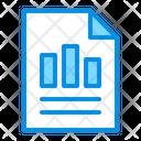 Bars Document Report Icon