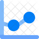 Sales Graph Analytics Icon