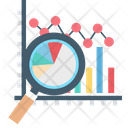 Analysis Graph Magnifying Analytics Icon