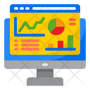 Analysis Graph Report Mangement Icon