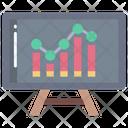 Analysis Presentation Graph Presentation Business Presentation Icon
