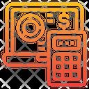 Economy Calculator Laptop Icon