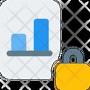 Analysis Report Lock Bar Chart Analysis Report Icon