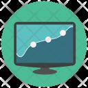 Screen Graph Analysis Icon
