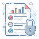 Analysis Security Analysis Protection Secure Statistics Icon