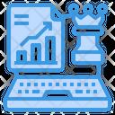 Laptop Strategy Plan Icon