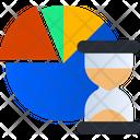 Pie Chart Analysis Time Statistics Icon