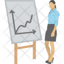 Analyst Graph Whiteboard Icon