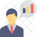 Analyst Graph Presentation Icon