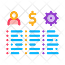Analytic List Strategy Icon