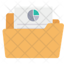 Pie Documnet Analytic File Storage Report File Icon