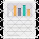 Analytic Report Document Report Analysis Icon