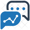 Business Chat Analytical Icon