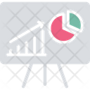 Analytical Presentation Graphical Report Market Analysis Icon